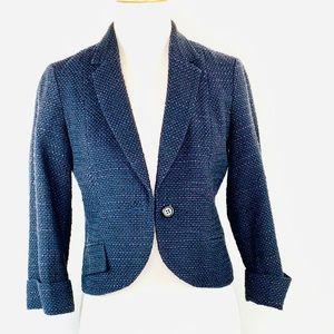 TABITHA Anthropologie Cropped tweed-like blazer 2